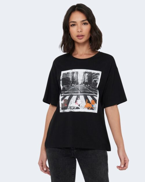 T-shirt Jacqueline de Yong SEOUL Nero - Foto 1