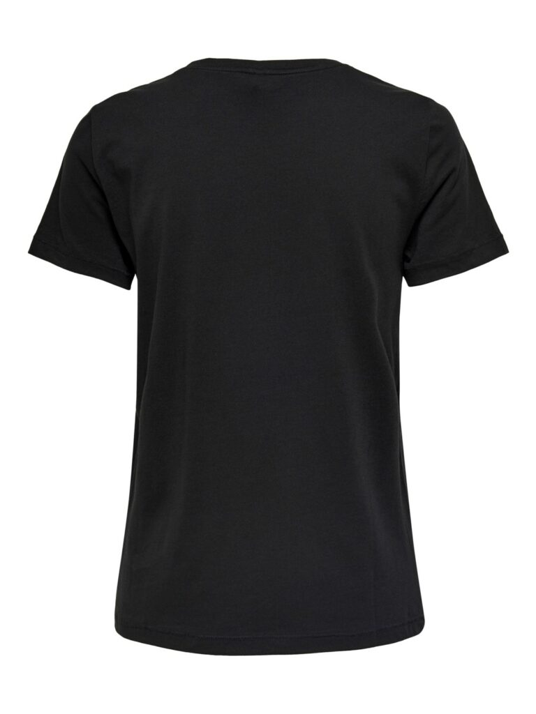 T-shirt Only NON VIOLENCE LIFE REG S/S TOP Nero - Foto 2