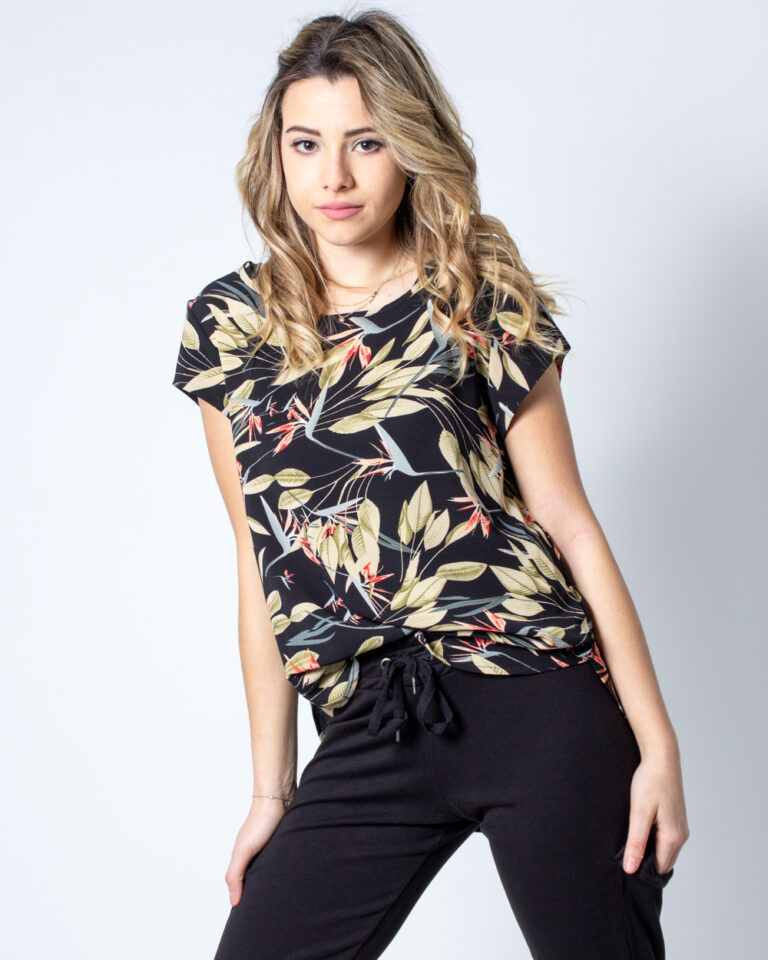 T-shirt Only Vic SS Aop Top Noos Wvn Nero - Foto 1
