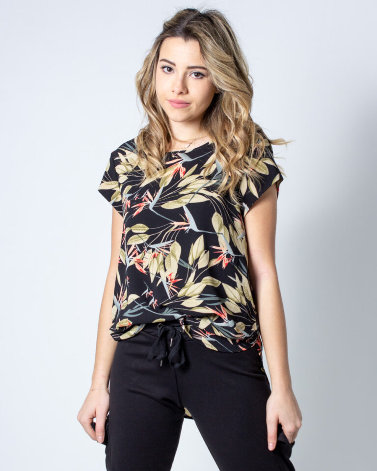 T-shirt Only Vic SS Aop Top Noos Wvn Nero - Foto 2