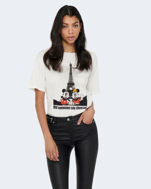 T-shirt Jacqueline de Yong SEOUL Panna - Foto 1