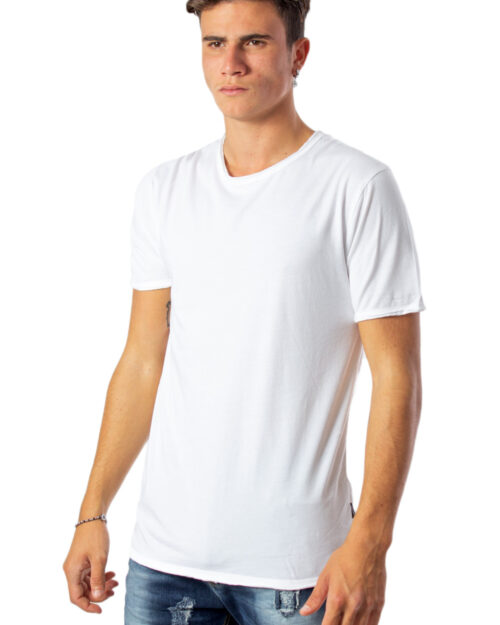 T-shirt Only & Sons ALBERT WASHED O-NECK NOOS BIANCA Bianco - Foto 2