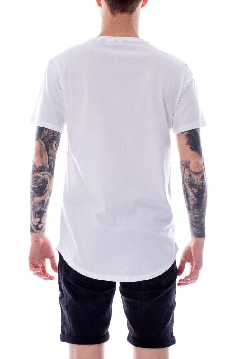 T-shirt Only & Sons Matt Longy SS Tee Noos Bianco - Foto 2