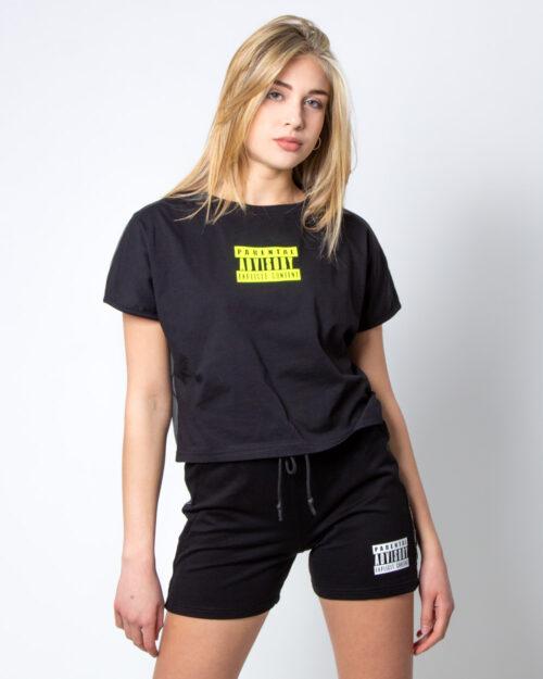 T-shirt Parental Advisory Logo Fluo Nero – 42424