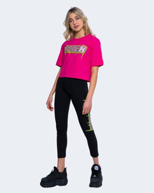 T-shirt Pyrex STAMPA FLUO E GLITTER CORTA Fuxia – 62904