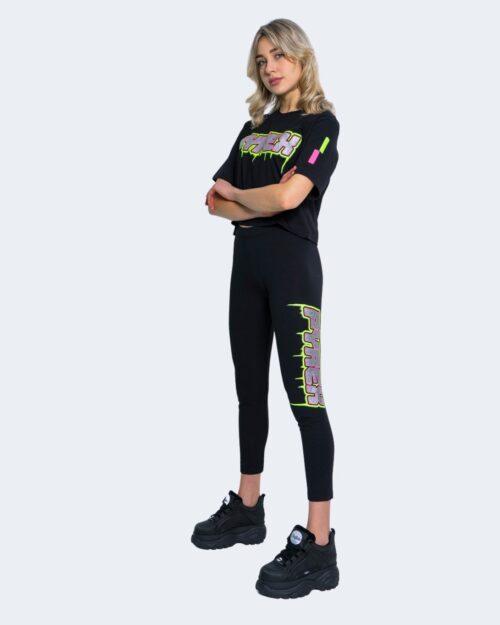 T-shirt Pyrex STAMPA FLUO E GLITTER CORTA Nero – 62904