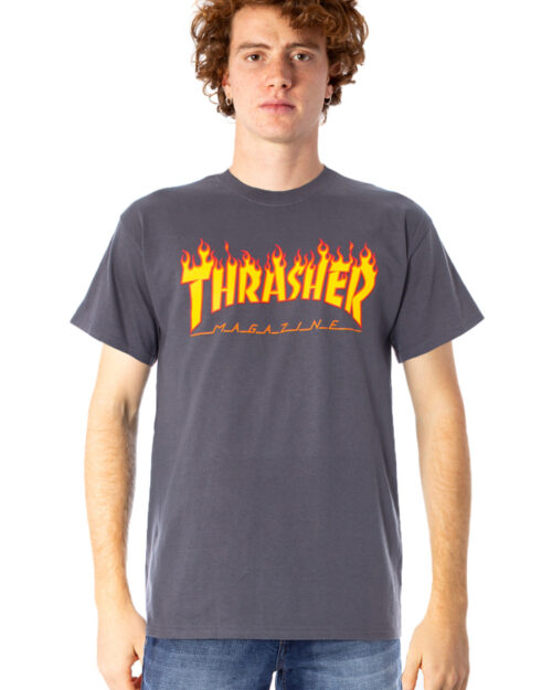 T-shirt Thrasher FLAME LOGO COLOR Grigio – 22168