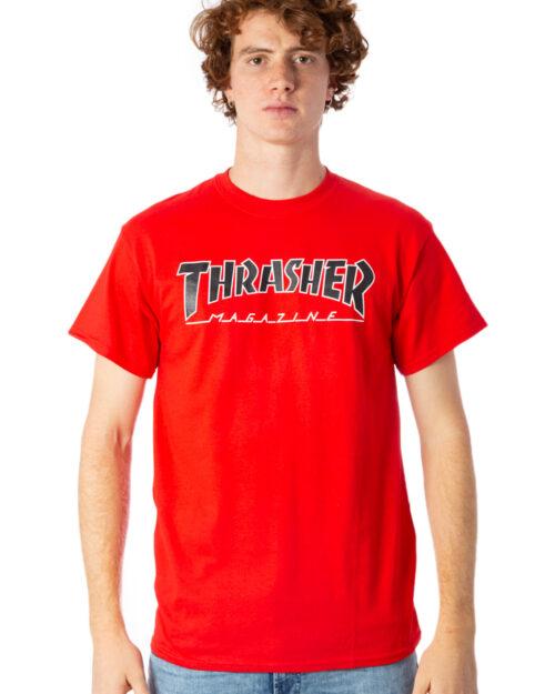 T-shirt Thrasher OUTLINE T-SHIRT Rosso – 39243