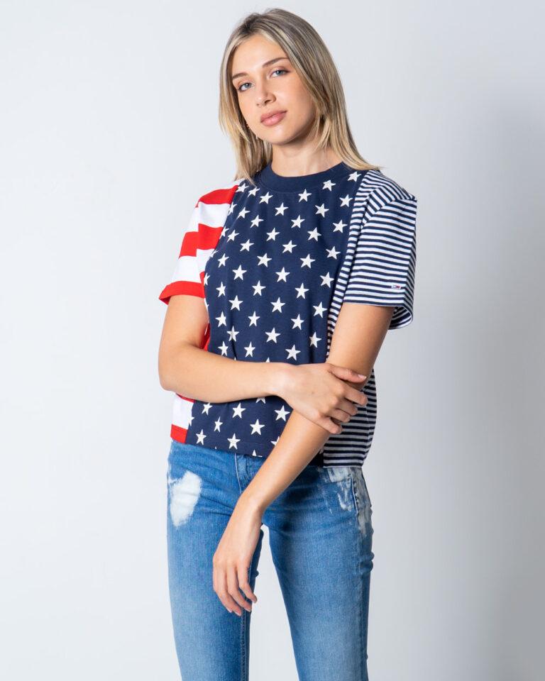 T-shirt Tommy Hilfiger Jeans AMERICANA Blu - Foto 1