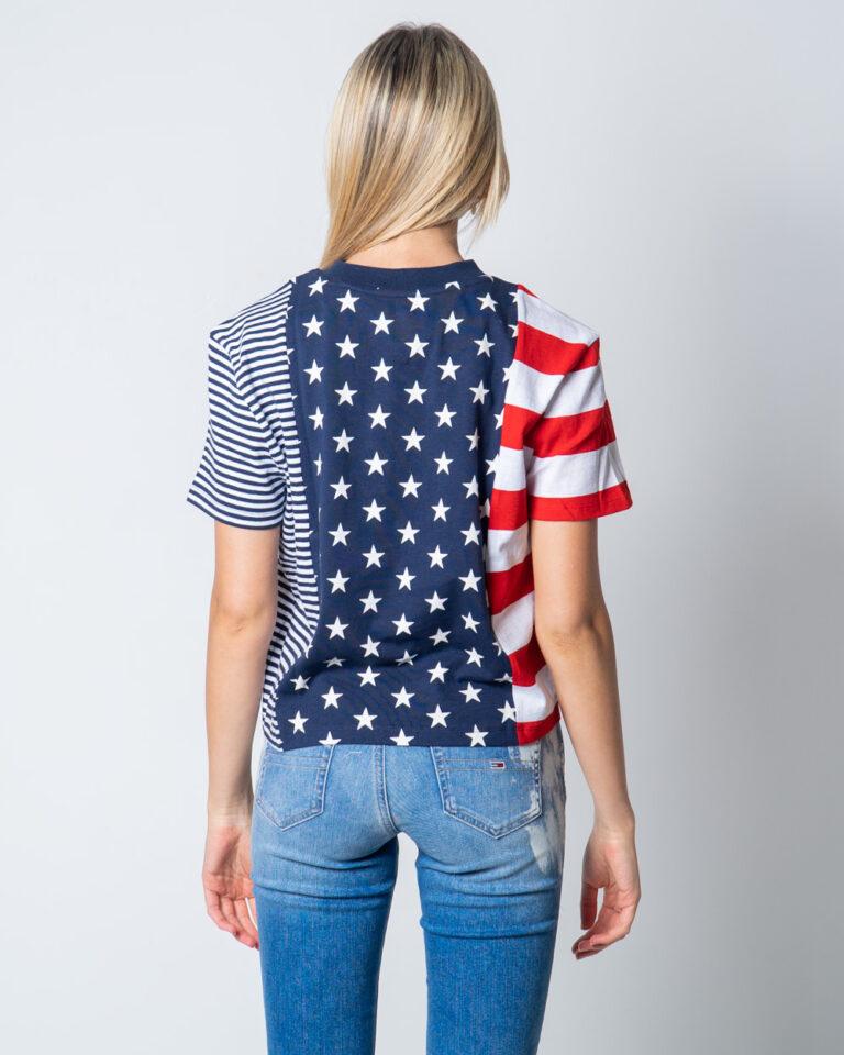 T-shirt Tommy Hilfiger Jeans AMERICANA Blu - Foto 3