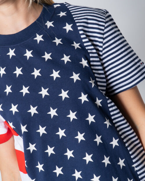 T-shirt Tommy Hilfiger Jeans AMERICANA Blu - Foto 4