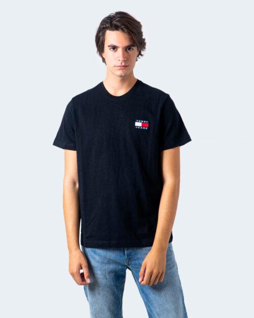 T-shirt Tommy Hilfiger Jeans Badge Nero - Foto 1