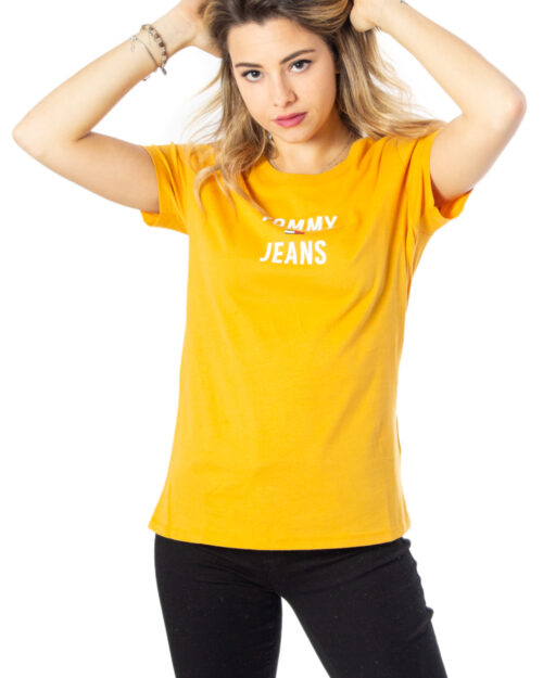 T-shirt Tommy Hilfiger Tjw Square Logo Tee Color Ocra – 40213