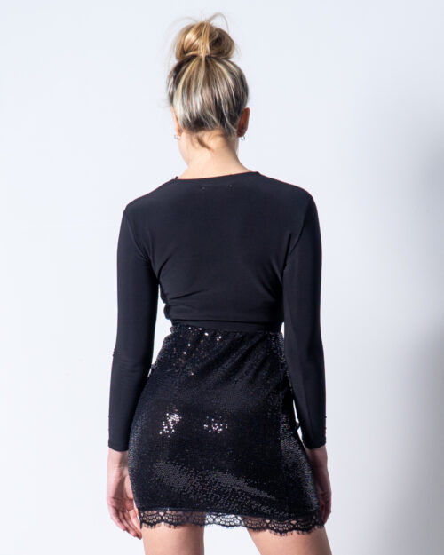 T-shirt manica lunga London Look FIOCCO Nero – 44116