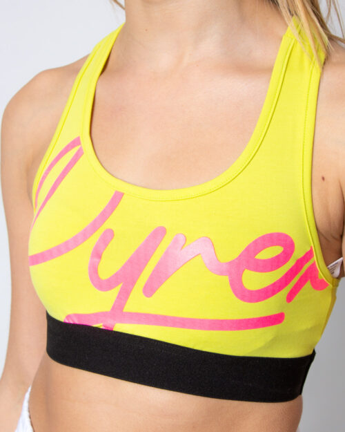 Canotta Pyrex Top Jersey Stretch Giallo lime - Foto 3