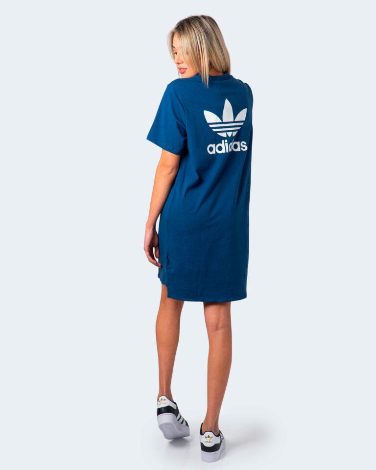 Vestito corto Adidas DRESS Blu Chiaro - Foto 1
