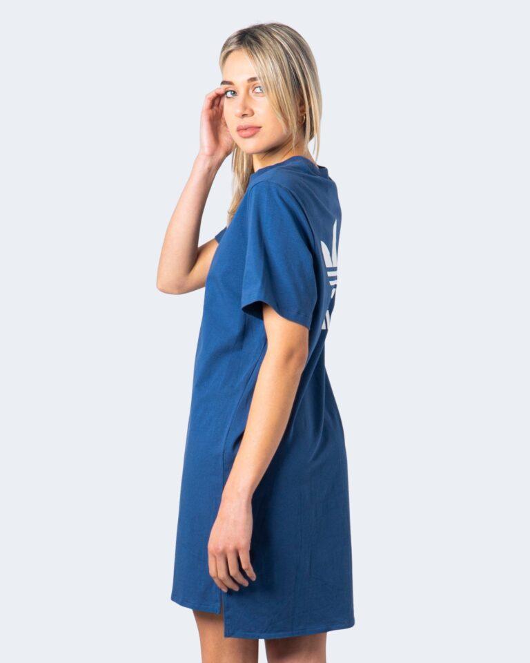 Vestito corto Adidas DRESS Blu Chiaro - Foto 2