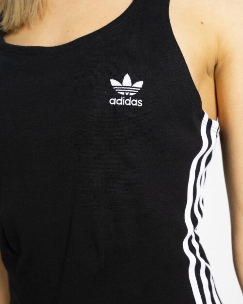 Vestito corto Adidas RACER DRESS Nero - Foto 4