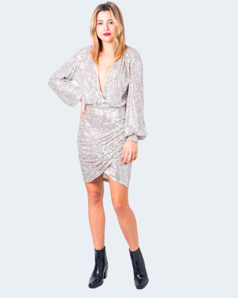 Vestito corto Aniye By WRAP DRESS FOLIE Argento - Foto 1