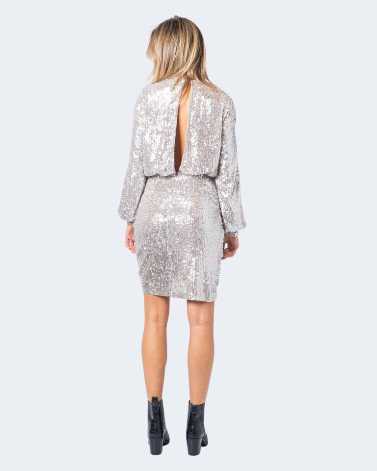 Vestito corto Aniye By WRAP DRESS FOLIE Argento - Foto 2