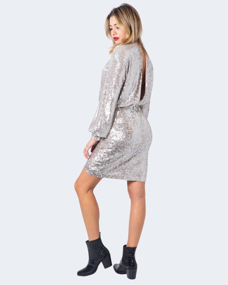 Vestito corto Aniye By WRAP DRESS FOLIE Argento - Foto 3