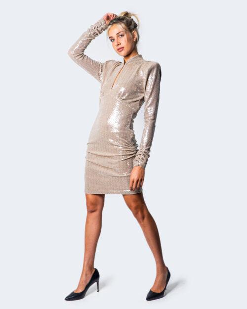 Vestito corto Aniye By OLGA GLITTER Beige – 54534
