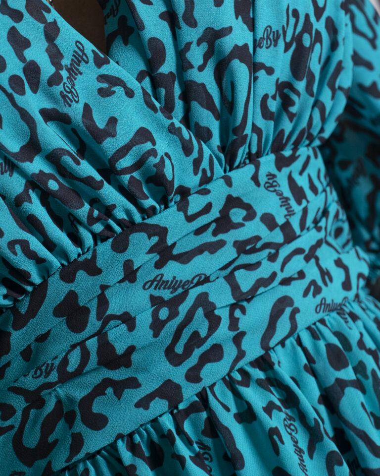 Vestito corto Aniye By MINI MINDY Verde - Foto 4