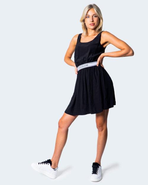 Vestito corto Calvin Klein Jeans LOGO FASCETTA IN VITA Nero - Foto 1
