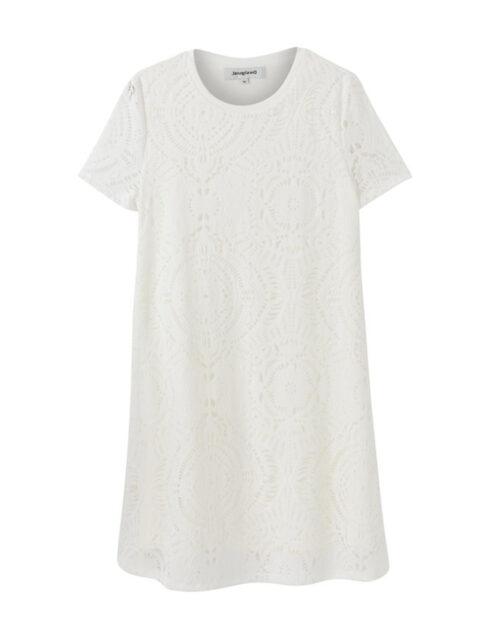 Vestito corto Desigual NILO Bianco - Foto 4