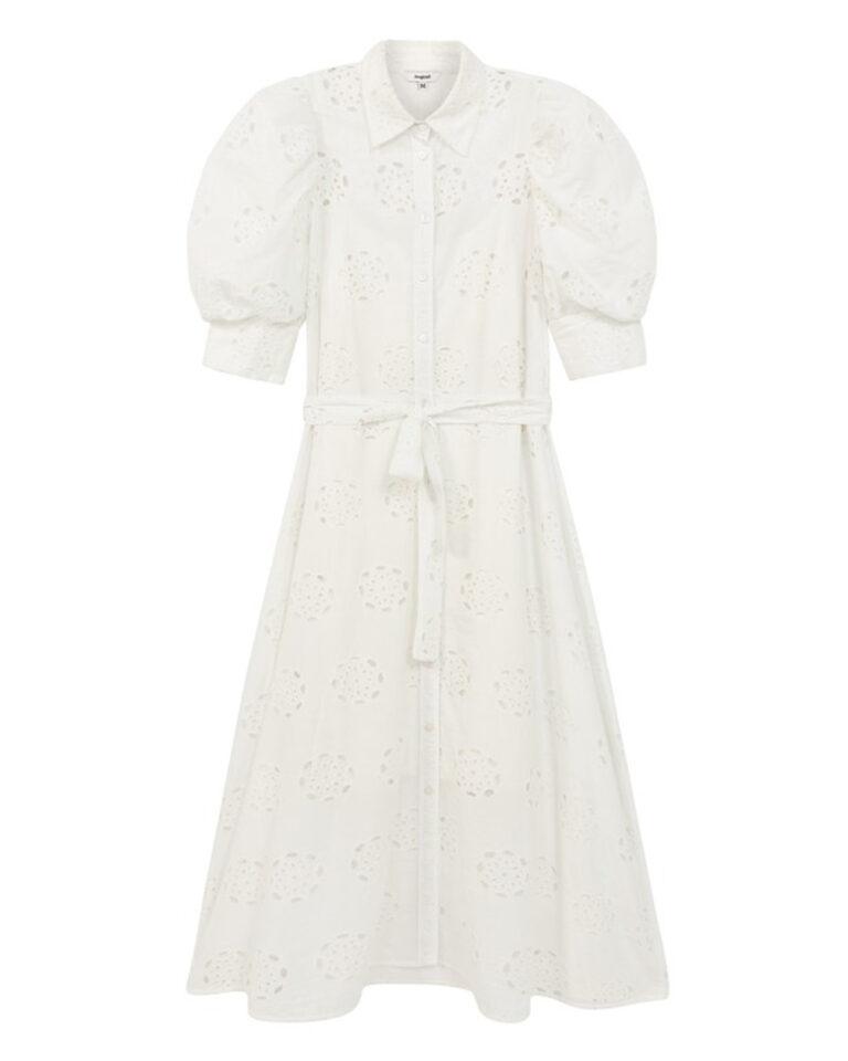Vestito midi Desigual NORIA Bianco - Foto 2
