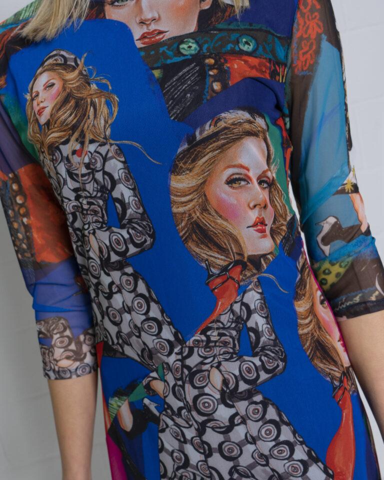 Vestito corto Desigual VEST MODELOS Blu - Foto 3