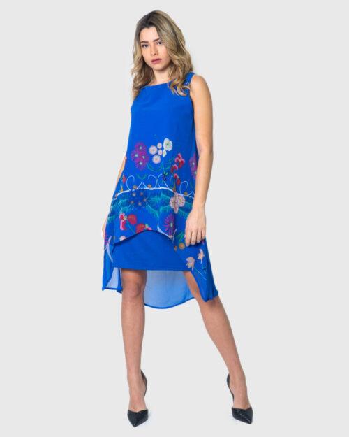 Vestito corto Desigual VEST CARNEGIE Blu Chiaro – 39522