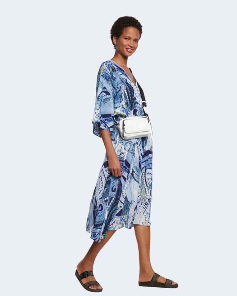 Vestito midi Desigual NANTES Blu Chiaro - Foto 1