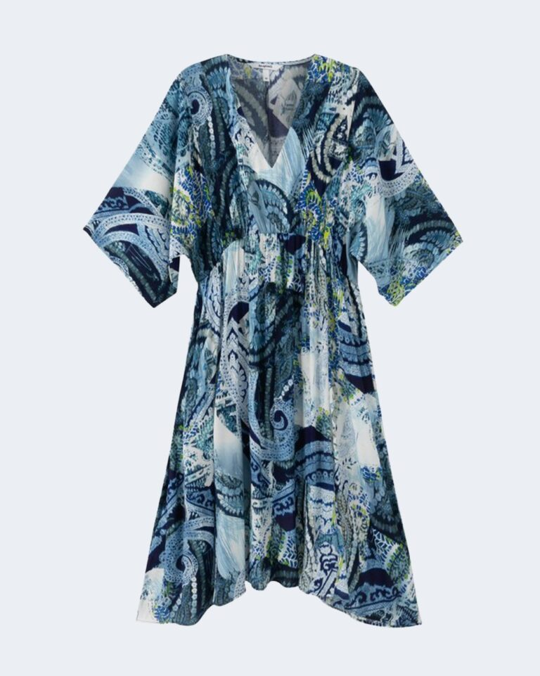 Vestito midi Desigual NANTES Blu Chiaro - Foto 3