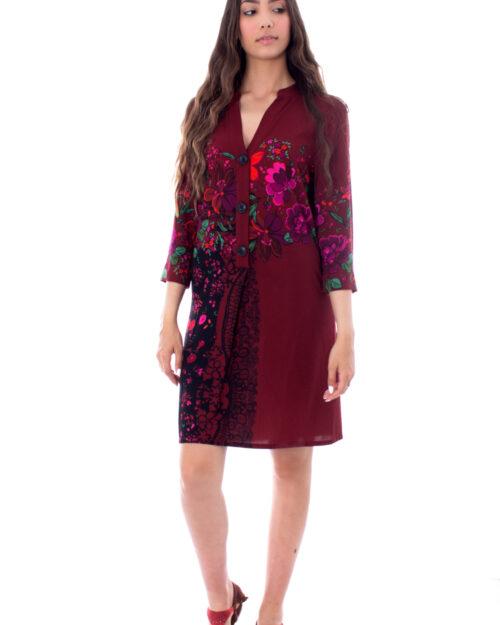 Vestito corto Desigual VEST VALENTINA Bordeaux – 29722
