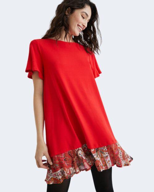 Vestito corto Desigual KALI Rosso - Foto 1