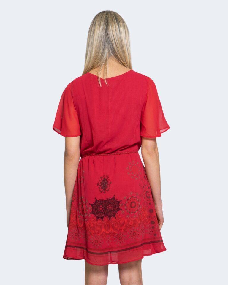 Vestito corto Desigual TAMPA Rosso - Foto 3