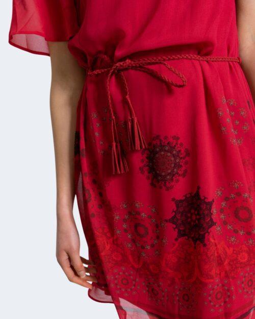Vestito corto Desigual TAMPA Rosso - Foto 4