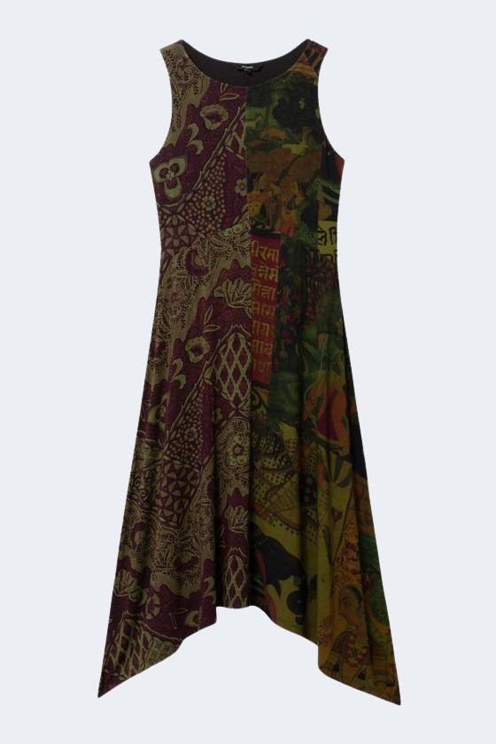 Vestito corto Desigual NISE Verde - Foto 2