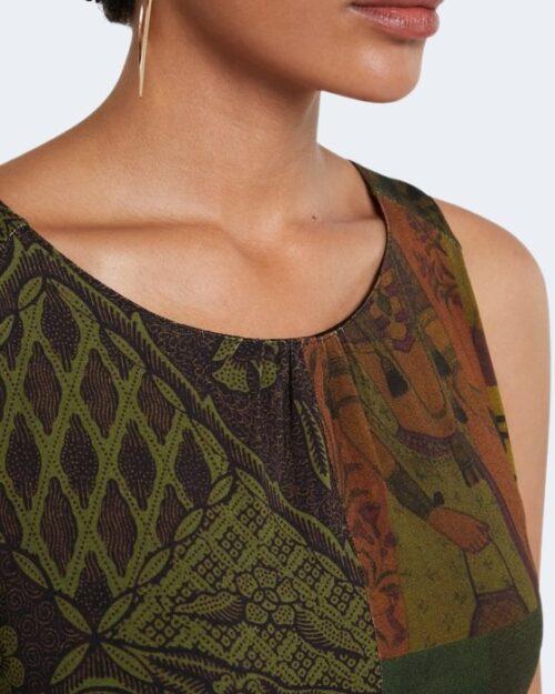 Vestito corto Desigual NISE Verde - Foto 3