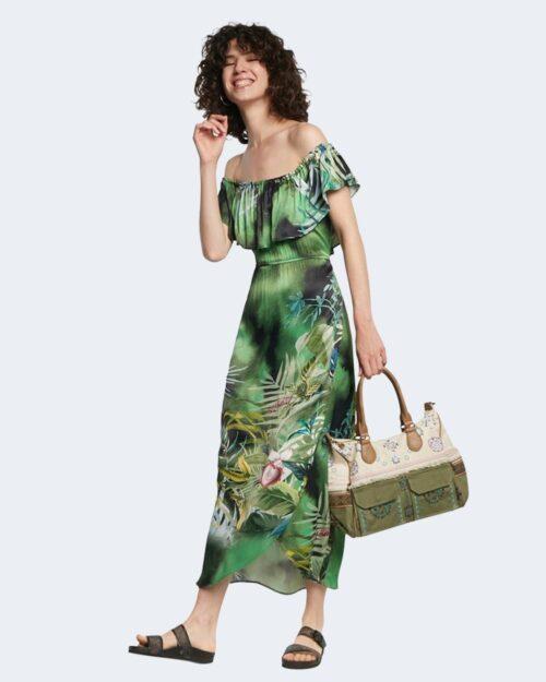 Vestito midi Desigual TUCSON Verde - Foto 1