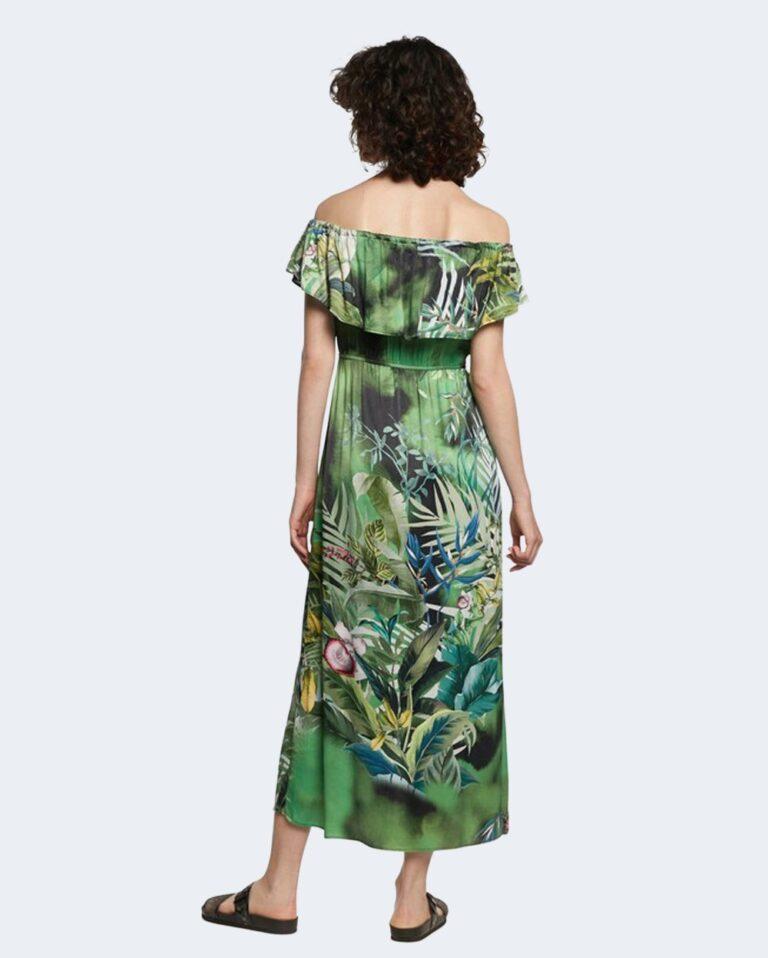 Vestito midi Desigual TUCSON Verde - Foto 3