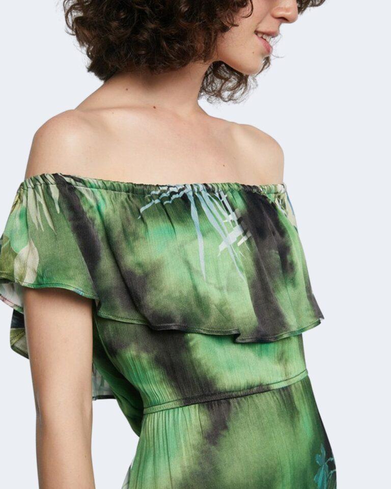 Vestito midi Desigual TUCSON Verde - Foto 4