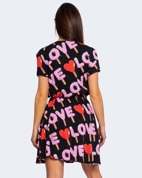 Vestito corto Love Moschino MULTILOGO Nero – 64001