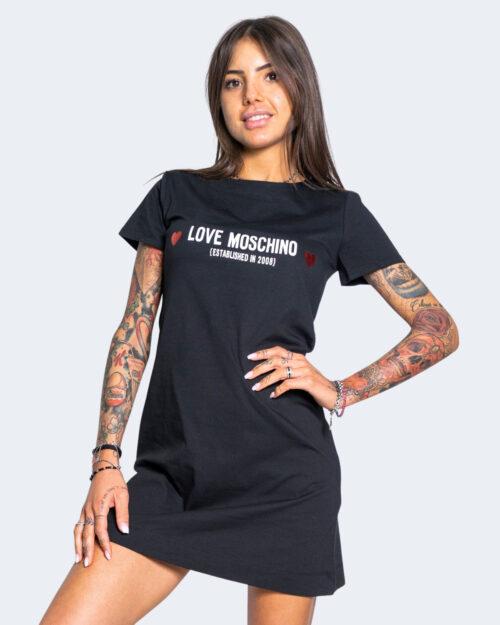 Vestito corto Love Moschino CUORE NERO Nero - Foto 1