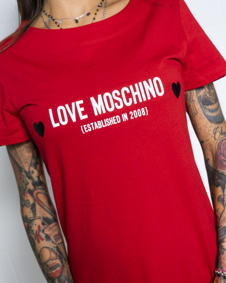 Vestito corto Love Moschino CUORE NERO Rosso - Foto 3