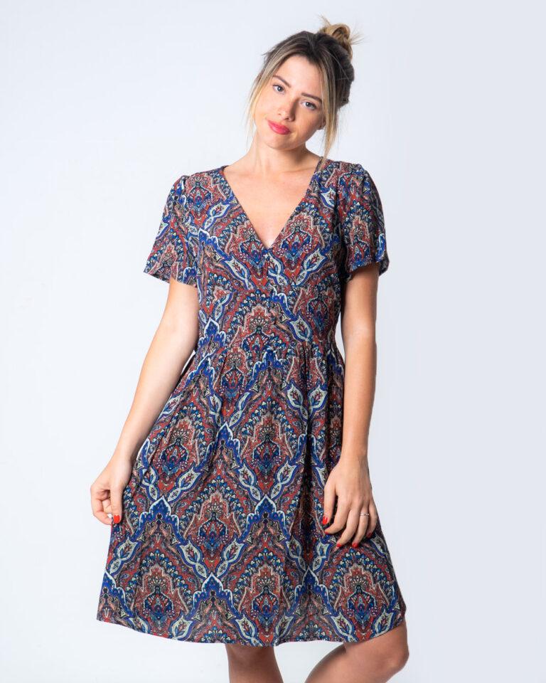 Vestito corto Only VIDE S/S DRESS WVN Blu - Foto 1
