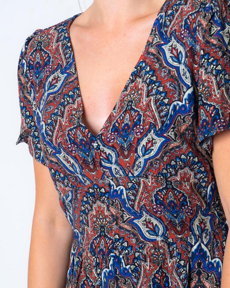 Vestito corto Only VIDE S/S DRESS WVN Blu - Foto 3