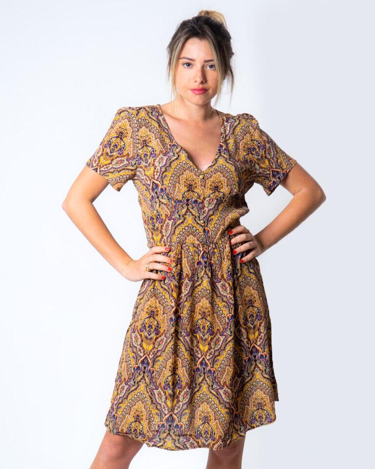 Vestito corto Only VIDE S/S DRESS WVN Oro - Foto 1