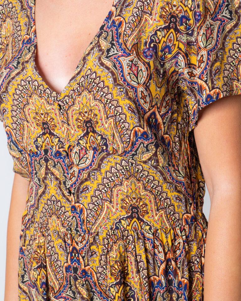Vestito corto Only VIDE S/S DRESS WVN Oro - Foto 3